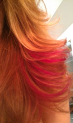 I love the hot pink in my hair! Fun for summer! Thanks Becky!
