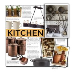 """""""#dreamkitchen"""" by gracekathryn ❤ liked on Polyvore featuring interior, interiors, interior design, home, home decor, interior decorating, Troy Lighting, Royal Doulton, Le Creuset and kitchen"""