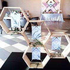 Декор свадьбы в стиле геометрия, геометрическая свадьба