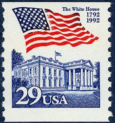 c3b5f1e252dd Arago  29-cent Flag Over White House. Stamp CollectingPostage ...