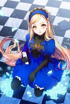 Blonde anime girl in blue dress. Persona 5 Ann, Persona Anime, Character Design References, Game Character, Joker Cartoon, Blonde Anime Girl, Anime Girl Dress, Anime Girls, Shin Megami Tensei Persona