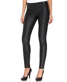 Studio M Pants, Faux-Leather Leggings - Women - Macy's