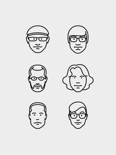 Creative Illustration, Mkn, Design, Michael, and Kamp image ideas & inspiration on Designspiration Icon Design, Line Design, Flat Design, Face Illustration, Portrait Illustration, Character Illustration, Simple Line Drawings, Ligne Claire, Grafik Design
