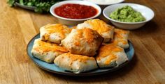 Minus wrap and cheese! Chicken Fajita Wrap Bombs