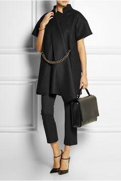 Victoria Beckham: Chain-embellished wool-blend felt jacket