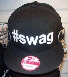 NEW ERA 9Fifty 950 Black Hashtag  SWAG Flat Brim Bill Snapback Baseball Cap  Hat f17ef935645e
