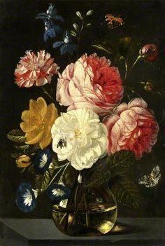 Jan van Kessel the Elder (Flemish artist, 1626-1679) - Vase of Flowers