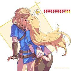 I just had to pin this, super cute. Zelda x Link The Legend Of Zelda, Legend Of Zelda Memes, Legend Of Zelda Breath, Link Zelda, Link And Zelda Kiss, Navi Zelda, Breath Of The Wild, Image Zelda, Princesa Zelda
