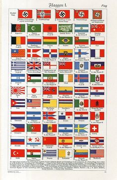 1930s INTERNATIONAL NATONAL FLAGS County Flags, Countries And Flags, Australian Flags, Alternate History, Flags Of The World, Historical Maps, National Flag, Coat Of Arms, World History
