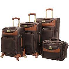 Caribbean Joe Luggage Castaway 360 Spinner Suitcase Set Lightweight New Suitcase Set, Spinner Suitcase, Best Carry On Luggage, Luggage Sets, Small Luggage, Luggage Reviews, Samsonite Luggage, Caribbean Joe, Travel Accessories