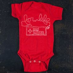 Gamer For Life Onesie Red, $15, now featured on Fab.
