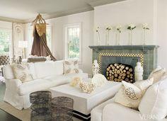 White Sofas for Coastal Living Room Decor