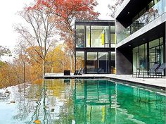 Amazing pool and patio in this Robert Gurney designed residence perched high over the Potomac River in Bethesda, MD