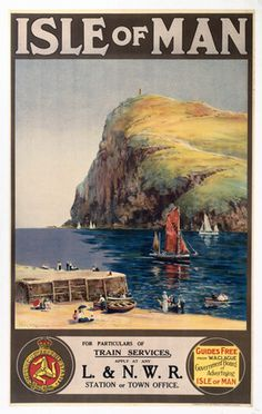 'Isle of Man', LNWR poster, c 1900.