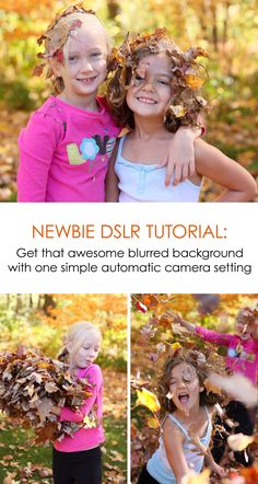 Get that awesome blurred background with one simple automatic DSLR camera setting *I had no idea this photography technique was so simple. Trying this with my kids! Photography Tips For Beginners, Photography Lessons, Photography Camera, Photography Tutorials, Children Photography, Amazing Photography, Photography Business, Portraits, Thing 1