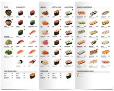 Sushi menu. Amsterdam-café on Behance