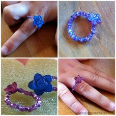 Easy beaded wire rings