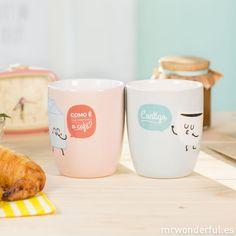 Conjunto de 2 canecas - Como é que preferes o café? Contigo (PT)