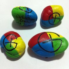 My own hand painted designs on pebbles to leave in Geocaches I find (= ~KellyAwwesome, Western Australia