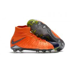 d646823f029 Zapatillas Futbol Sala Nike Hypervenom Phantom III DF FG Naranja Azul Gris Nike  Football Boots