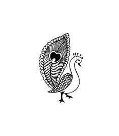 henna / mehndi pattern peacock pinned via @Sahrazade