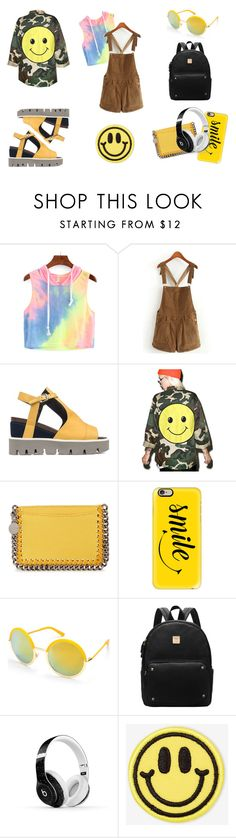 """""""SMILE!"""" by mmonstter ❤ liked on Polyvore featuring Strategia, Audrey 3+1, STELLA McCARTNEY, Casetify, Beauty & The Beach, Beats by Dr. Dre and Big Bud Press"""
