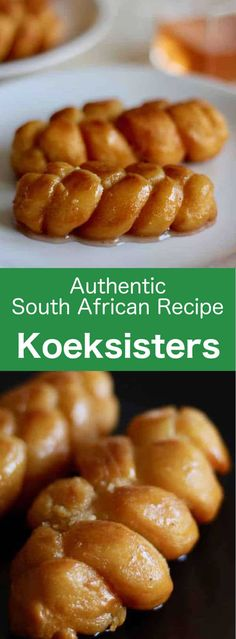 South Africa: Koeksisters - Ember - South Africa: Koeksisters Koeksisters are small crispy donuts that are popular in South Africa. They are braided and fried, then soaked in a fragrant sugar syrup. South African Desserts, South African Dishes, South African Recipes, Africa Recipes, Easy Cookie Recipes, Snack Recipes, Dessert Recipes, Cooking Recipes, Braai Recipes