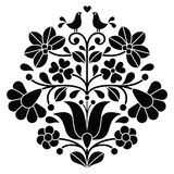 Hungarian Embroidery Patterns Kalocsai black embroidery - Hungarian floral folk pattern with birds - stock vector - Embroidery Designs, Types Of Embroidery, Folk Embroidery, Learn Embroidery, Indian Embroidery, Hungarian Embroidery, Brazilian Embroidery, Hungarian Tattoo, Chain Stitch Embroidery