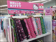 Hellow Kitty Fabric Choices and Point-of-Purchase Signage