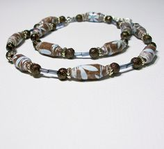 Buds in Blue - Paper Bead Necklace