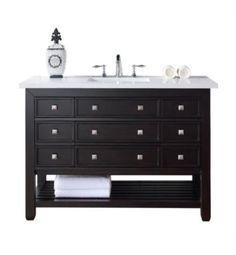 "James Martin 505-V48-CEO Vancouver 48"" Single Bathroom Vanity in Cerused Espresso Oak Finish"
