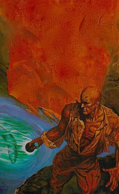 THE SPOOK HOLE, Fred Pfeiffer Doc Savage Bantam Books cover painting.
