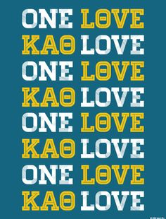 Kappa Alpha Theta One Love Print