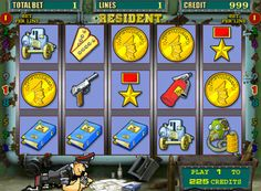 The Resident machine has 5 reels, 9 paylines, as well as a symbol Wild. Also present in the pokies, and a two-level bonus game to double round. Play 1, Free Slots, Slot Online, Slot Machine, Online Casino, Humor, Presents, Symbols, Games