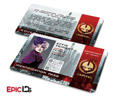 """The Hunger Games Inspired The Capitol """"Effie"""" Identification Card"""