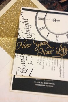 My New Years Eve Invite # Glitter
