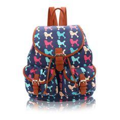 Γυναικείο backpack Μεσαίου μεγέθους, JC OGZ31F-Dark Blue Cute Paintings, Retro Fashion, Backpacks, Handbags, Casual, Style, Swag, Totes, Backpack