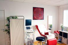 Décoration d'intérieur / Cabinet médical / Tableau art moderne art optique / Sphère / Modulus carmin