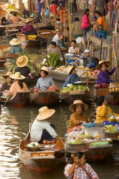 Floating Market and Thonburi Klongs.  Take a long tailed boat to visit the colourful floating market outside Bangkok. Pass along the Klongs – canals – which once gave Bangkok the name 'Venice of the East'.  'Ancient Kingdoms of South East Asia' www.industours.co.uk