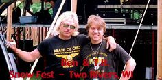 Ben with his ORR bandmate, drummer Tom Hambridge at the Snow Fest in Two Rivers, WI