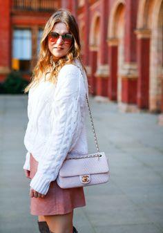 Chunky knits and favourite handbag