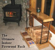 We need a nice rack indoors to stack our firewood, this one is pretty nice and fairly easy to make!