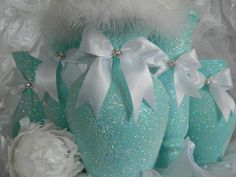 Wedding Centerpiece FROZEN Party Shabby Chic Wedding by KPGDesigns, $17.95