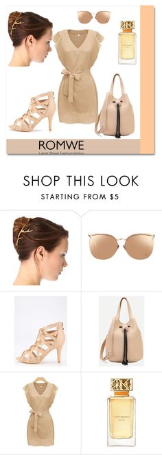 """Romwe 2"" by s-o-polyvore ❤ liked on Polyvore featuring Linda Farrow and Tory Burch"