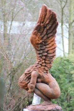 wood carved angel.