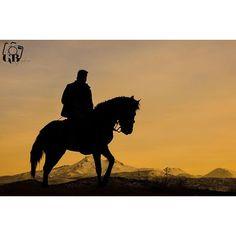 Fonda Erciyes ve atlı…  Fotoğrafı gönderen: Gamze Bozkaya