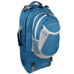 Highlander Explorer 45+15L Teal Travel Backpack