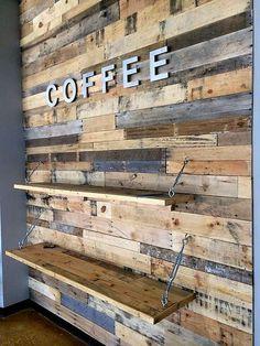 pallets wall idea