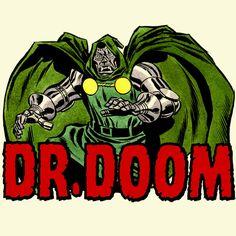 Dr Doom shirt Marvel Comics retro 80's superhero 100% cotton graphic printed tee #HanesAnvilGildan #GraphicTee