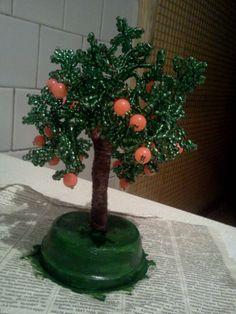 Апельсиновое дерево. Мастер класс. / Бисер / Деревья из бисера: схемы, мастер классы